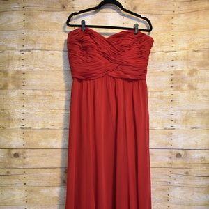 Lauren Ralph Lauren Evening Red Chiffon Gown
